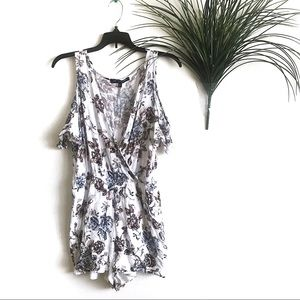 One Clothing Floral Cut Out Shoulder Romper